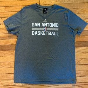 Adidas NBA San Antonio athletic V-neck T-shirt